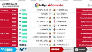 LaLigaya ha dado a conocer los horarios de las tres primeras jornadas de Primera División. Debido al calor que acecha durante el mes de agosto y...