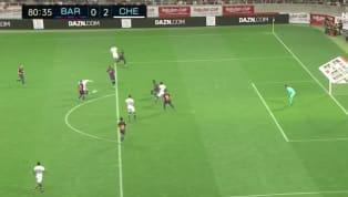 Phút 81 trận giao hữu Rakuten Cup giữa Barcelona và Chelsea, Ross Barkley đã có cú ra chân hạ gục thủ thành tân binh Neto nhân đôi cách biệt cho đội bóng...