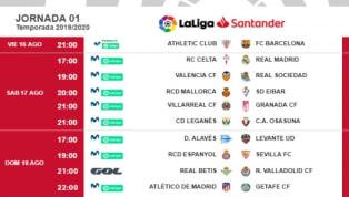 Ayer se confirmaron los horarios de la primera jornada de La Liga Santander después de que un juez decidiera que no habrá más fútbol los lunes, pero sí los...