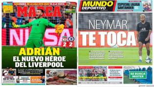 """Con imagen y declaraciones de Jaume Costa y Eliaquim Mangala, últimos fichajes del club valenciano, SuperDeporte titula hoy """"¡Preparados!"""". Por otro lado, los..."""