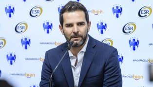 Durante la toma de la fotografía oficial fue que el presidente deportivo de Monterrey se dio tiempo para responder algunas preguntas de la prensa que asistió...