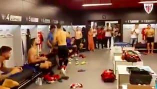 Tributo dei compagni dopo aver realizzato con il gol vittoria contro il Barcellona. Serata indimenticabile per il 38enneAritz Aduriz: con la sua rovesciata...