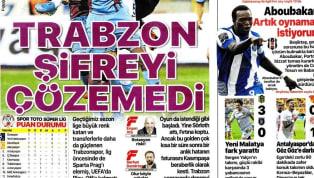Trabzonspor'un Kasımpaşa ile 1-1 berabere kaldığı karşılaşmanın ayrıntıları gazetelerde ağırlıklı olarak yer buldu. Fenerbahçe'nin Gazişehir Gaziantep maçı...