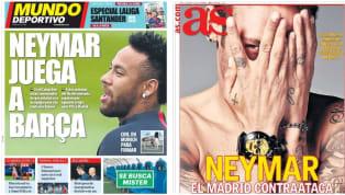 En la lista de hoy vemos las portadas de los cinco medios más importantes del periodismo deportivo español. Destacan especialmente el nombre de Neymar da...