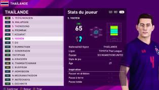 Trang Pes Updates nổi tiếng mới đây đã công bố chỉ số chi tiết của các ngôi sao tuyển Thái Lan. Xem thêm tin về PES 2020 tại đây Xem chỉ số của các cầu thủ...