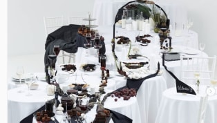 ​Lithuanian artist Jolita Vaitkute spent a staggering 27 hours putting together a piece of how Ronaldo and Messi having dinner together might look with the...