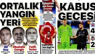 UEFA Avrupa Ligi'nde dün akşam elde edilen kötü skorlar, gazete haberlerinde ağırlıklı olarak yer buldu. Cuma gününün öne çıkan haber başlıkları şu...