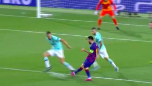 Lionel Messi có một pha solo đẳng cấp trước khi kiến tạo cho Luis Suarez hoàn tất cú đúp vào lưới Inter ở phút 84 giúp Barcelona ngược dòng dẫn 2-1. 
