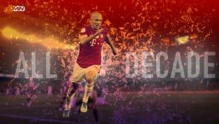 Arjen Robben ocupa la posición 20 en el serialde los 20 mejores jugadores de la Década para 90min. Sigue el resto de las entregas en las próximas semanas....