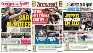 È uno solo il tema del giorno relativo alla rassegna stampa delle prime pagine dei principali quotidiani sportivi di oggi, lunedì 7 ottobre 2019: il Derby...