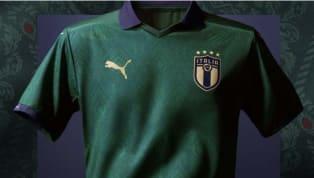 La selección de Italia presentó el nuevo jersey que usarán en la Eurocopa de 2020, que se jugará en 12 ciudades diferentes en toda Europa. #Italy's new...