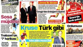 A Milli Takımımız'ın Arnavutluk mücadelesinin yankıları, günün haberlerinde ağırlıklı olarak yer bulmuş durumda. Kulüplerimizden de haberlerin yer aldığı...