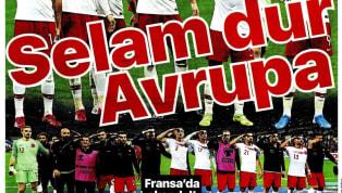 A Milli Takımımız'ın Fransa ile 1-1 berabere kaldığı karşılaşmanın ayrıntıları gazetelerde ağırlıklı olarak yer buldu. Kulüplerimizden de haberlerin yer...
