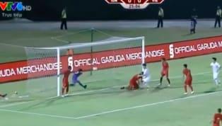 Duy Mạnh mở tỉ số cho tuyển Việt Nam sau một pha kiến tạo của Văn Hậu ở phút 26 trận đấu với Indonesia.