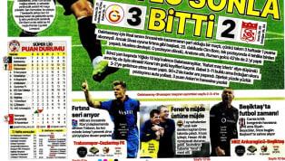 Galatasaray'ın Demir Grup Sivasspor karşısında elde ettiği 3-2'lik galibiyet gazetelerde ağırlıklı olarak yer buldu. Trabzonspor'un Gaziantep Futbol Kulübü,...