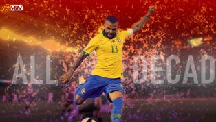 Dani Alves es el número 8 en los 20 mejores futbolistas de la serie 'Década' de los 90 minutos. Siga el resto de la serie en el transcurso de las próximas...