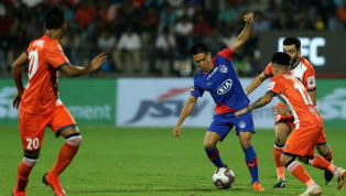 FC Goa face off against defending champions Bengaluru FC at the Jawaharlal Nehru Stadium in Goa on Monday. Both teams faced off in the Indian Super League...