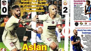 Galatasaray'ın Gaziantep Futbol Kulübü deplasmanında elde ettiği 2-0'lık galibiyet gazetelerde ağırlıklı olarak yer buldu. Beşiktaş'ın Yukatel Denizlispor ve...