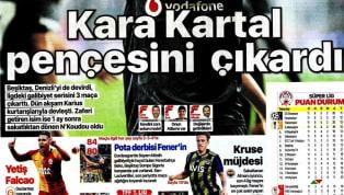 Beşiktaş'ın 1-0'lık Yukatel Denizlispor maçı ve Trabzonspor'un aynı skorlu Aytemiz Alanyaspor karşılaşması gazetelerde ağırlıklı olarak işlendi. Haftanın ilk...