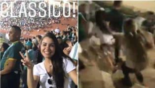 La violencia volvió a decir presente en un partido de fútbol sudamericano. Esta vez ocurrió en Brasil, en el clásico que jugaron Corinthians y Palmeiras por...