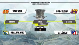 Hai cặp đấu bán kết Siêu Cup Tây Ban Nha đã được xác định với Barcelona gặp Atletico Madrid và Real Madrid sẽ đấu Valencia.  Xem thêm tin về Barcelona tại...