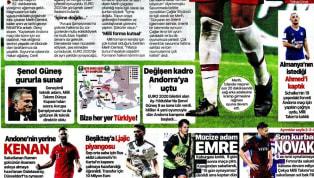 A Milli Takımımız'ın 2020 Avrupa Futbol Şampiyonası'na katılmayı garantilemesi gazetelerde ağırlıklı olarak yer buldu. Kulüplerimizden de haberlerin yer...