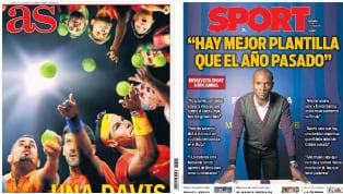 Los distintos medios deportivos españoles abren con protagonismo especial para el torneo de tenis, pero también con varias entrevistas. Éric Abidal ha hecho...