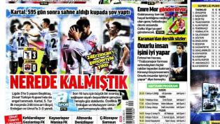 Beşiktaş'ın Anagold 24 Erzicanspor karşısında elde ettiği 3-0'lık galibiyet gazetelerde ağırlıklı olarak yer buldu. Fenerbahçe-Gençlerbirliği maçı öncesindeki...