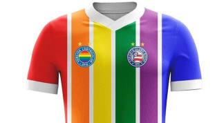 Un grupo de hinchas del Bahía, llamado Torcida LGBTricolor, lanzó este diseño para representar la diversidad dentro del club. La comunidad LGBTQ es cada vez...