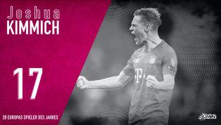 Joshua Kimmich belegt Platz 17 in unserem Ranking der 20 besten Spieler des Jahres 2019. Trotz des insgesamt etwas erratischen Saisonverlaufs desFC Bayern...