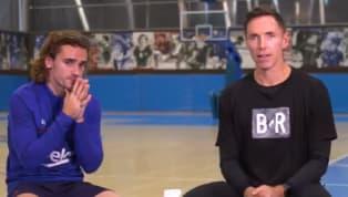 El futbolista francés y el ex jugador de baloncesto canadiense se han enfrentado en un desafío desde el tiro libre con dos pruebas: lanzar el balón familiar...