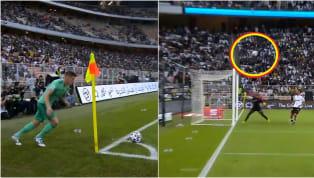 Toni Kroos ghi một siêu phẩm cực dị từ chấm phạt góc vào lưới Valencia ở bán kết SuperCopa rạng sáng 9.1 Bàn thắng của Kroos vào lưới Valencia giống hệt siêu...