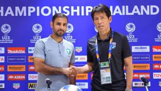 อากิระ นิชิโนะ ให้สัมภาษณ์ในการแถลงข่าวความพร้อมก่อนหน้าเกม เอเอฟซี ยู-23 แชมเปี้ยนชิพในรอบ 8 ทีมสุดท้าย คู่ระหว่างทีมชาติไทยพบ ทีมชาติซาอุดีอาระเบีย...