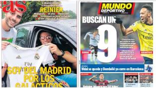Los principales medios españoles de prensa escrita destacan el aterrizaje de Reinier Jesús al Real Madrid, posterior al pago de su cláusula (30M) al Flamengo,...