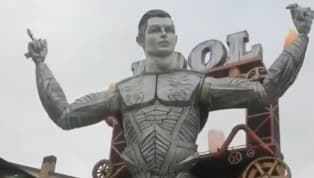 Cristiano Ronaldo is considered as a God amongmere mortals on the football pitch - and his legendary status was celebrated at the Viareggio Carnival in...