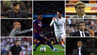 Quique Setién dirigirá este fin de semana su primer Clásico desde que aterrizó en el banquillo del FC Barcelona. Repasamos cómo les fue a sus seis...