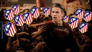 El Atlético de Madrid logró el pase a los cuartos de final gracias a dos goles de Marcos Llorente, que ya es nuevo ídolo. Algien puede estar arrepintiéndose...