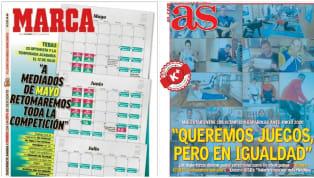 Los medios abren a día 19 de marzo con el optimismo del presidente de LaLiga en retomar la competición a mediados de mayo y la sensación de desigualdad de...
