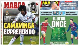 Los medios abren con distintas informaciones en sus primeras planas, destacando a la joya de la Ligue 1 vinculada con el Real Madrid o un posible once de...