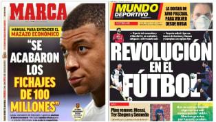 Las primeras planas de los principales diarios escritos en España abren con dominio de cómo se van a limitar los grandes fichajes o de las reformulaciones de...