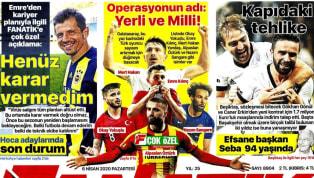 Koronavirüs salgını nedeniyle Süper Lig'e verilen arada kulüplerimizden haberler gazetelerde ağırlıklı olarak yer buldu. Pazartesi gününün öne çıkan haber...