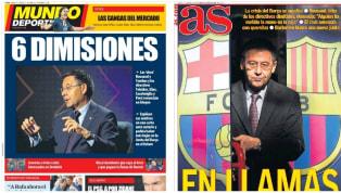 La dimisión en bloque de seis miembros en la cúpula azulgrana, junto al comunicado y las acusaciones hacia Josep Maria Bartomeu, son el tema del día. Las...