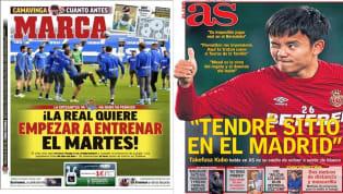 En este domingo 12 de abril, las portadas se centran en la posible vuelta de la Real Sociedad a los entrenamientos y en los líos en la Junta Directiva del FC...