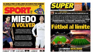 El clima de pocas garantías ante un posible retorno de la máxima competición española en ámbito nacional es el protagonista en las primeras planas de la...