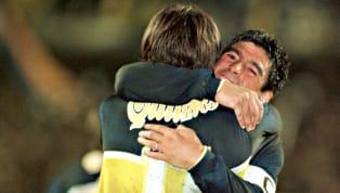 Diego jugó por última vez con la camiseta de Boca el 25 de octubre de 1997 en un triunfo ante River en el Monumental. ¿Quiénes fueron los privilegiados que...