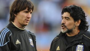 The late legendary Diego Maradona and FC Barcelona legend Lionel Messi are both widely considered to be two of the greatest footballers in history and way...