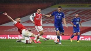 Lors du match qui opposait Arsenal et Leicester (1-1) ce mardi, en Premier League, Jamie Vardy a laissé une trace de son passage sur le visage de Shkodran...