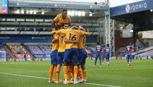 Everton moved top of the Premier League with a 2-1 victory over Crystal Palace at Selhurst Park on Saturday afternoon. Dominic Calvert-Lewin applied the...