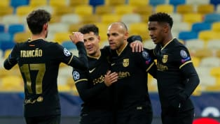An understrength Barcelona secured qualification for the last 16 of the Champions League as they beat Dynamo Kiev 4-0 on Tuesday night, with Martin...