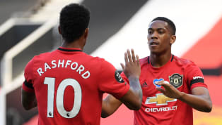 ears Anthony Martial and Marcus Rashford wrote their names into recent Manchester United history on Saturday afternoon, becoming the first pair to both reach...